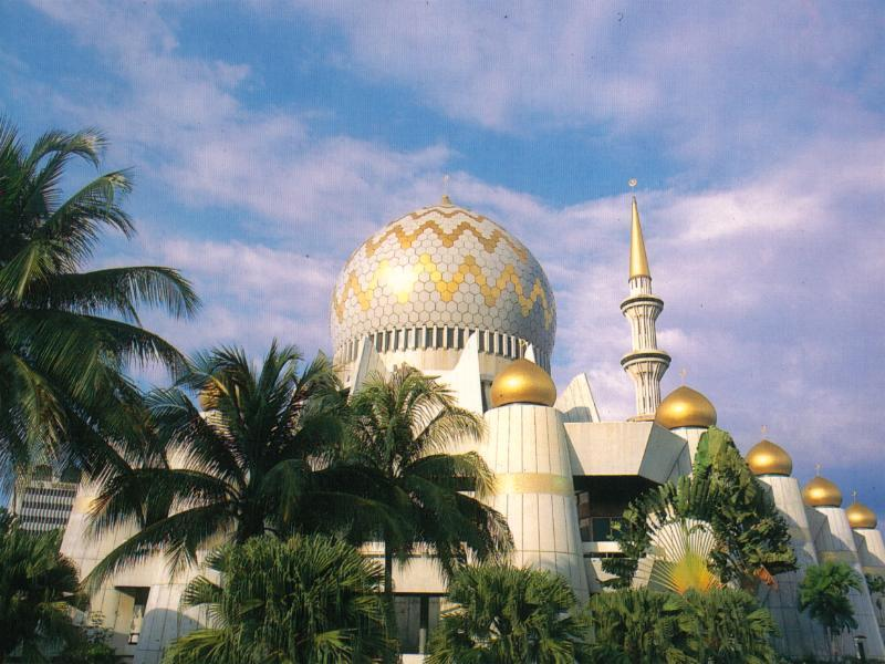 Sabah State Mosque - the Majestic Domes and Minaret, Malaysia